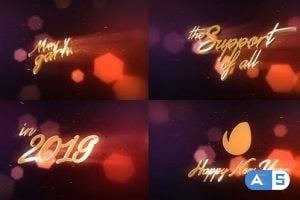 Videohive – New Year Wishes | 3D Logo Text – 18940904