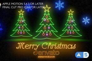 Videohive – Neon Light Christmas – Apple Motion – 25049238