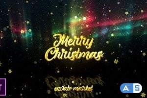 Videohive – Christmas Aurora Lights Greetings – Premiere Pro – 25125792