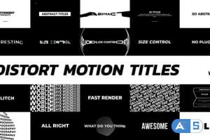 Videohive – Distort Motion Titles – 24901143