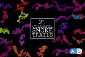 Videohive – 21 Colorful Smoke Trails – 23312552