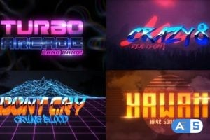 Videohive – 80S 4 Pack Logo Intro – 23970681