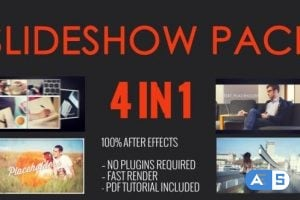 Videohive SlideShow Pack 4 in 1 11123059
