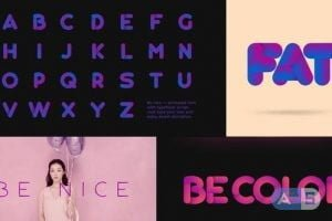 VideoHive Be Nice — Stretchy Font 23796297