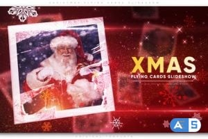 Videohive- Christmas Flying Cards Slideshow – 22783786