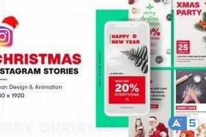 Videohive – Christmas Instagram Stories – 25121405