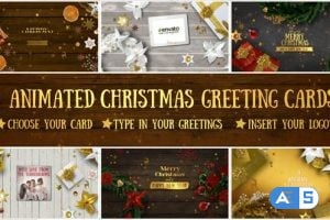 Videohive 6 Christmas Greeting Cards 18855075