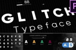 Videohive – Glitch – Animated Typeface – 22846308