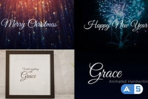 Videohive – Grace – Animated Handwriting Typeface – 25072496