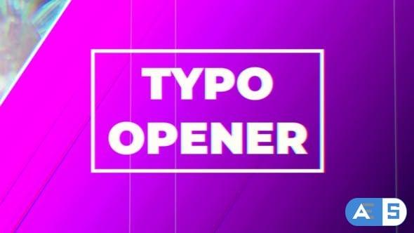 Videohive – Typo Opener – 23039487