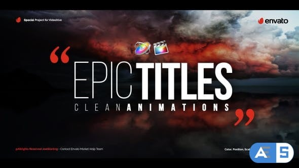 Videohive – Epic Titles For Final Cut Pro X – 20531405
