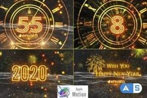 Videohive – New Year Countdown 2020 – Apple Motion – 22919323