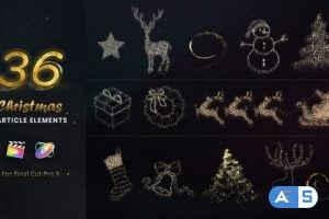 Videohive – Christmas Particle Elements for Final Cut Pro – 22867283
