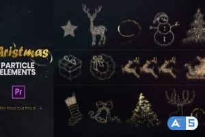 Videohive – Christmas Particle Elements for Premiere Pro – 22972402