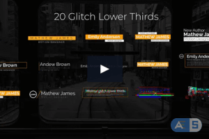 Videohive – Glitch Lower Thirds – 25001972