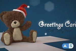 Videohive Christmas Teddy Bear Greetings 13892821