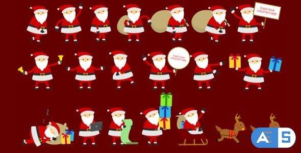 Videohive – Santa Animation & Greetings – 9455623