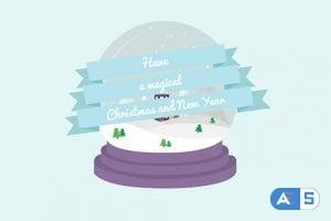 Videohive – Cartoon Christmas Postcard 03 – 13866800