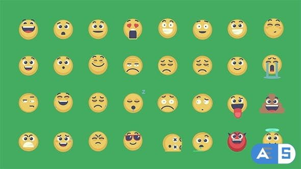 Videohive – Animated Emoticons Pack – 15083973