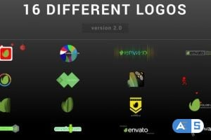 VideoHive – Wow Logo Pack   16 Different Logo Reveal 9571666