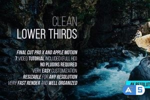 Videohive – Clean Lower Thirds for Final Cut Pro X – 19676744