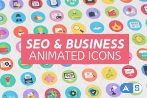 Videohive – 100 Seo & Business Modern Flat Animated Icons – 15948640