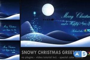 Videohive – Snowy Christmas Greetings – 3406948