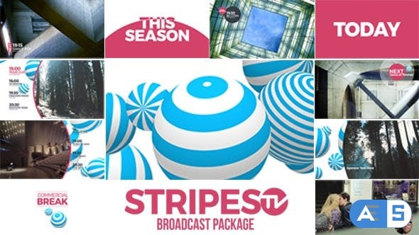 Videohive – Stripes tv Broadcast Package – 14913952