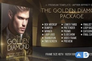 Videohive – The Golden Diamond Awards Package – 20317127