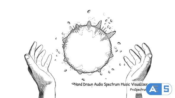 Videohive – Hand Drawn Audio Spectrum Music Visualizer – 15288957
