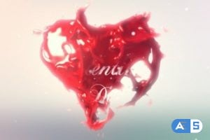 Videohive – Valentines Heart Logo Reveal – 6769221
