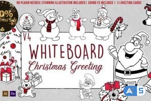 Videohive Holidays Whiteboard Greetings Pack 6078110