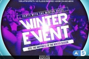 Videohive – Winter Music Afterparty – 9895305