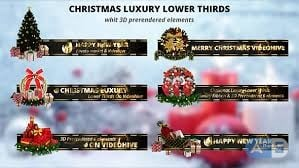 Videohive – Christmas Luxury Lower Thirds – 18997465