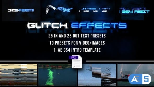 VideoHive – Glitch Presets for Text and Video 7605934