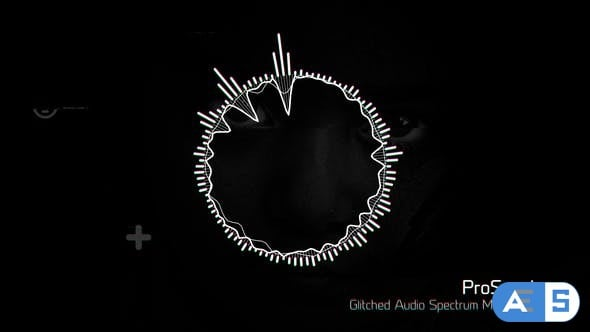 Videohive – Glitched Audio Spectrum Music Visualizer – 19850765