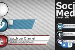 VideoHive Social Media Lower Third Pack 4649167