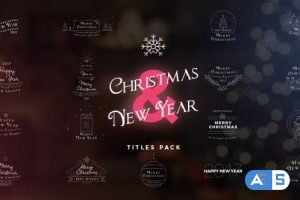 Videohive 17 Christmas & New Year Titles 18862641