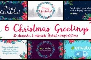 Videohive – 6 Christmas Greetings – 18971230