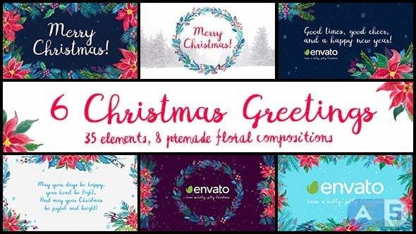 Videohive – 6 Christmas Greetings – 18971230