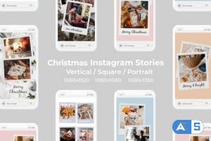 Videohive – Christmas Instagram Stories | Vertical Square Portrait – 25148463