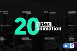 Videohive – 20 Animated Titles / MOGRT – 23183393