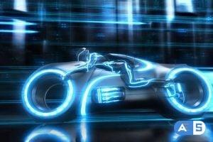 Videohive – Futuristic Neon Bike Logo – 25099088