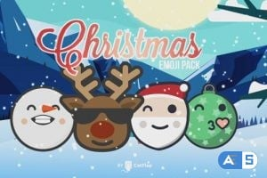 Videohive 120 Animated Emojis – Christmas Pack 19155211