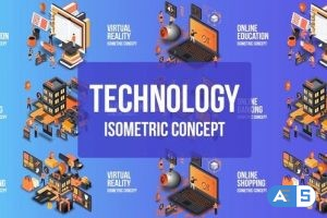 Videohive Future Technology – Isometric Concept 25076901