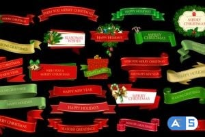 Videohive – Christmas Lowerthirds and Banners 25261829