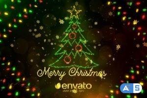 Videohive – Colorful Lights Christmas – 25198911