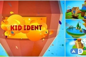 VideoHive Kids Show Ident Broadcast Package/ Teens Youtube Channel/ Family TV/ Cartoon Party 3D Intro/ Tales 8839798
