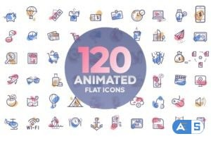 Videohive – 120 animated icons 22423691