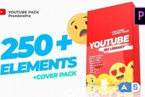 Videohive – Youtube Library and Сover pack Mogrt 24293866